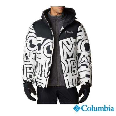 Columbia 哥倫比亞 男款- Omni-Heat 鋁點保暖連帽外套-白色 UEO09020WT