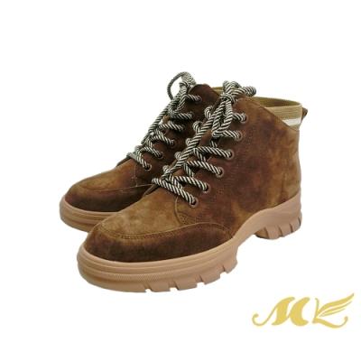 MK-復古風俐落有型自信品味中筒休閒鞋-咖啡色  (兩色)