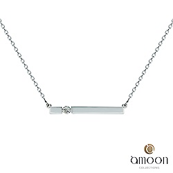amoon 浪漫艾菲爾系列 依人 9K金鑽石項鍊