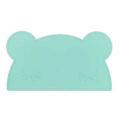 澳洲We Might Be Tiny 矽膠防滑餐墊熊寶寶-薄荷綠