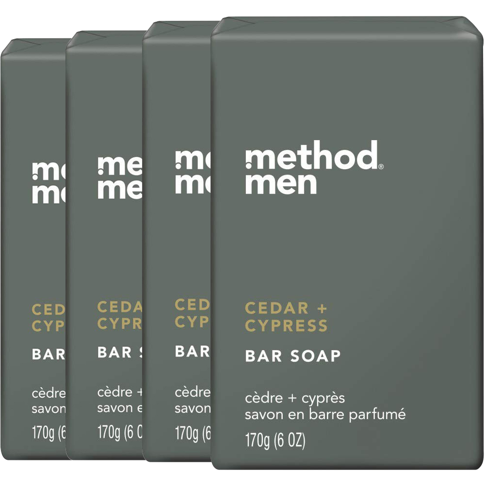 method美則男仕潔膚皂-雪松+落羽杉170gx4入