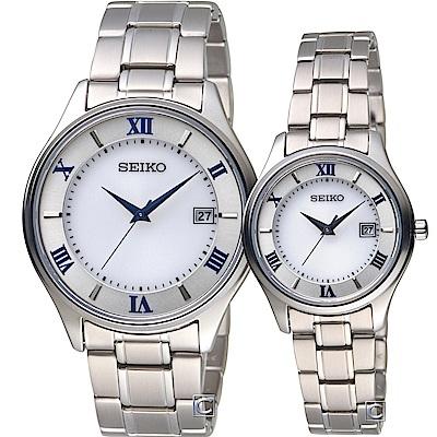 SEIKO 精工SPIRIT 浪漫羅馬太陽能對錶(SBPX113J+STPX063J)