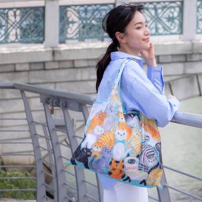 日本 Prairie Dog 設計包/環保袋/購物袋/手提袋 - 貓貓