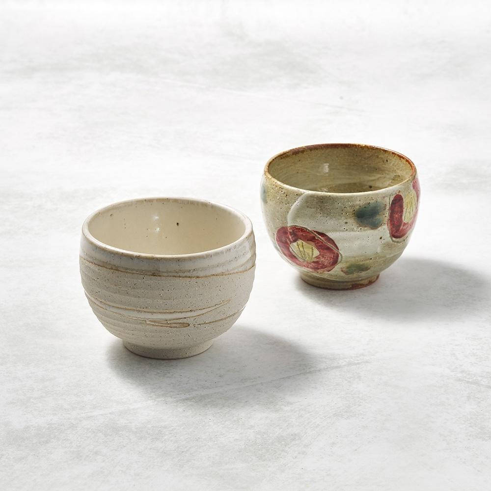 KOYOTOKI日本美濃燒 手感和風茶杯 - 山茶對杯組(2件式)-250ml