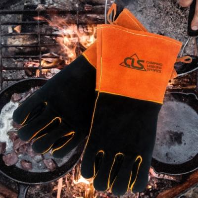 韓國CLS  BBQ GLOVES 安全隔熱皮革手套