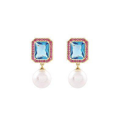NOONOO FINGERS 玻璃珍珠 耳環/耳夾