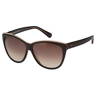 TOD'S 時尚貓眼 太陽眼鏡 (咖啡色)TO9094