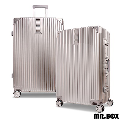 MR.BOX 威爾 28吋PC鏡面鋁框行李箱 旅行箱-銀色