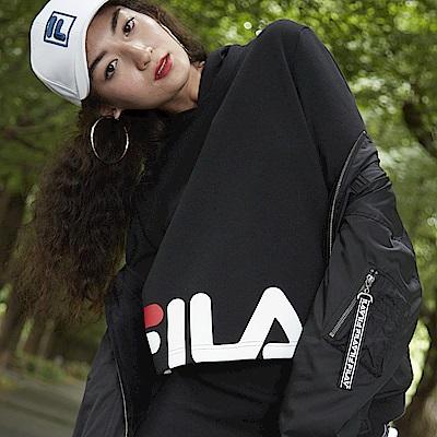 FILA #東京企劃-原宿篇 連帽T恤-黑 5TES-5437-BK
