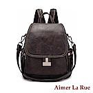 Aimer La Rue 埃文斯休閒復古織帶二用後背包(二色)