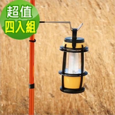 韓國SELPA 不鏽鋼多功能露營掛勾 營柱 樹木 營燈 露營 超值四入組