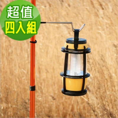 韓國SELPA不鏽鋼多功能露營掛勾營柱樹木營燈露營超值四入組