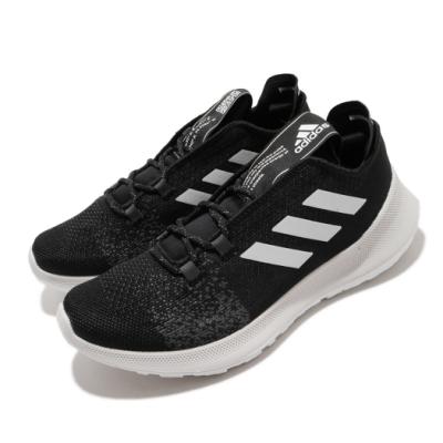 adidas 慢跑鞋 Sensebounce Ace 女鞋 愛迪達 三線 路跑 緩震 透氣 球鞋穿搭 黑 白 EE4186