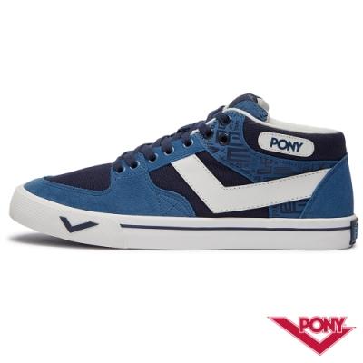 【PONY】ATOP系列 經典滑板鞋 運動鞋 板鞋 男款 灰藍