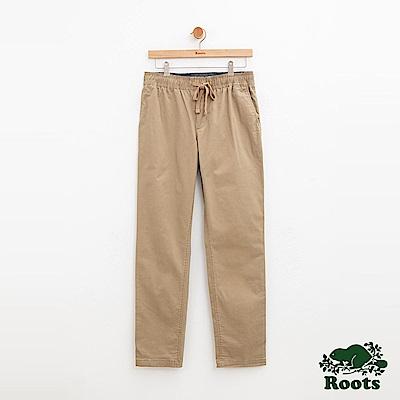 男裝Roots 基本款平織長褲-棕