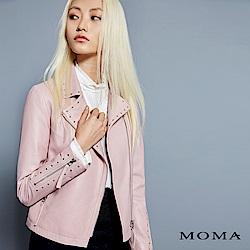 MOMA 小羊皮騎士外套[情人節送禮推薦]