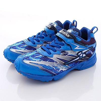 日本月星頂級競速童鞋 2E閃電運動系列 SE115藍(中大童段)0