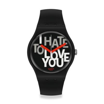 Swatch New Gent 原創系列 HATE 2 LOVE-41mm