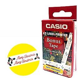 CASIO 標籤機專用色帶-12mm耶誕特別版