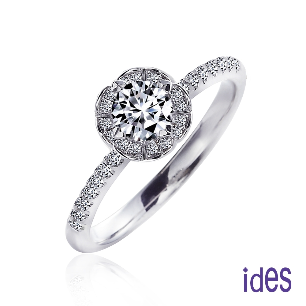 ides愛蒂思 八爪30分E/VS1八心八箭頂級車工3EX鑽石戒指/璀璨18K