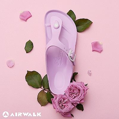【AIRWALK】百搭羅馬夾腳拖鞋(藍鈴紫)