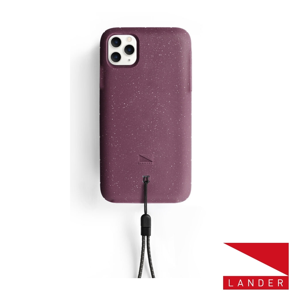 美國Lander iPhone 11 Pro Max Moab手機保護殼-莓果紫(附手繩)