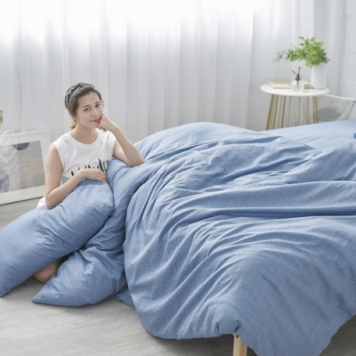 BUHO 天然嚴選純棉雙人四件式床包被套組(孤獨光年)