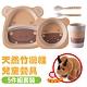 VOSUN 健康環保抗菌天然竹纖維餐具5件套裝組(餐盤.碗杯.湯匙叉)_小河馬 product thumbnail 1