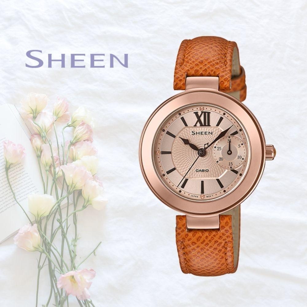 CASIO卡西歐 優雅時尚腕錶(SHE-3051PGL-7A)