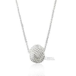 Tiffany&Co. 永恆同心結墜飾925純銀項鍊