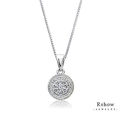 Rshow S925純銀Roman羅馬假期系列綴鑽項鍊