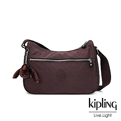 Kipling深紫羅蘭素面側背包(中)