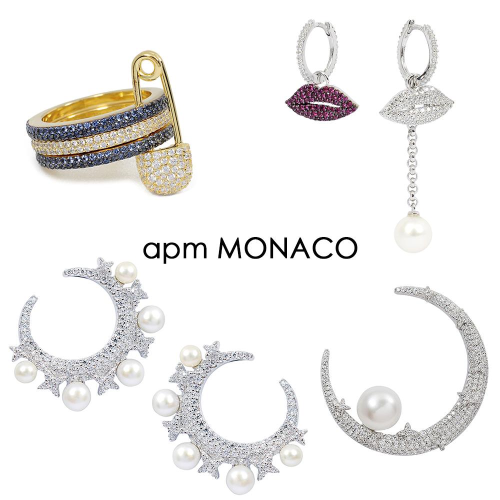 [時時樂限定]apm MONACO法國精品珠寶 耳環/項鍊6折起均一價(多款可選)