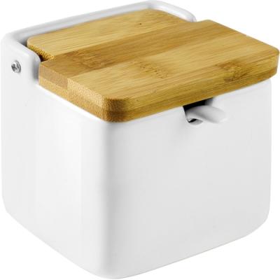《IBILI》附匙竹蓋方形調味罐(350ml)