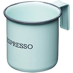 《KitchenCraft》復古琺瑯濃縮咖啡杯(藍75ml)
