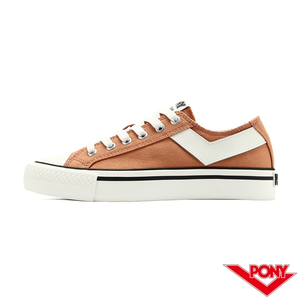 【PONY】Shooter系列經典 復古帆布鞋 休閒鞋 女鞋-橙色