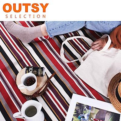 【OUTSY嚴選】限量款輕量條紋野餐墊 湯姆歷險記