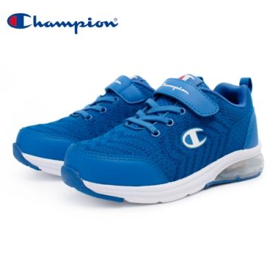 【Champion】ELASTIC NET 氣墊運動童鞋 飛織網布 大童鞋-寶藍(KSUS-0367-60)