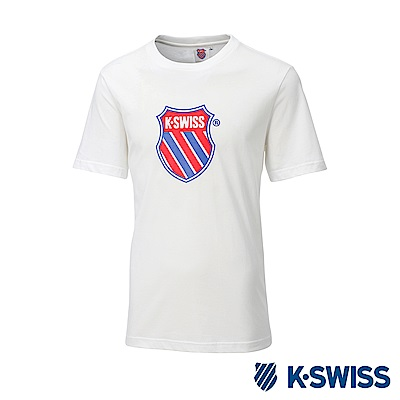 K-SWISS Heritage T-Shirt印花短袖T恤-男女-白