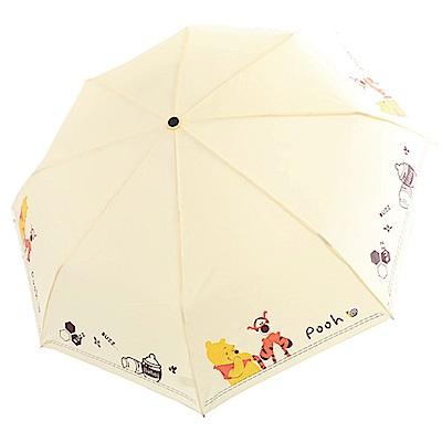 迪士尼 小熊維尼 跳跳虎 抗UV自動三折晴雨傘