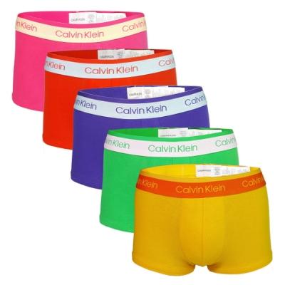 [時時樂限定] Calvin Klein男內褲 限量彩虹雙色棉質高彈性合身平口內褲/CK四角褲-多款多色
