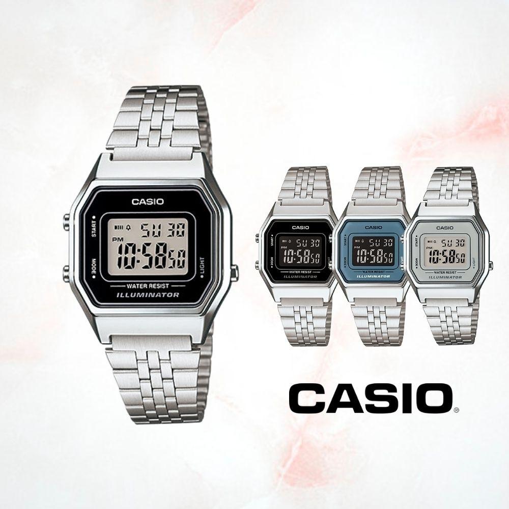 CASIO卡西歐 八角復古造型電子錶(LA680WA)