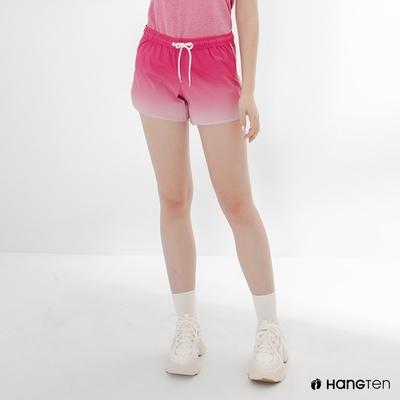 Hang Ten-女裝-REGULAR FIT鬆緊腰頭漸層設計短褲-粉紅