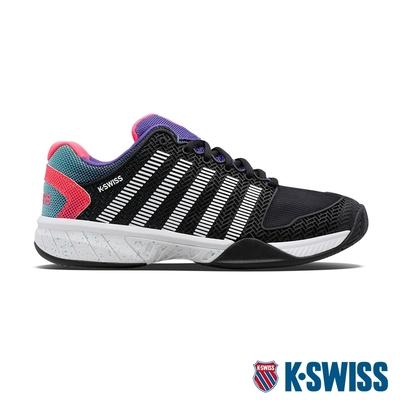 K-SWISS Hypercourt Express透氣輕量網球鞋-男-黑/紫/桃紅