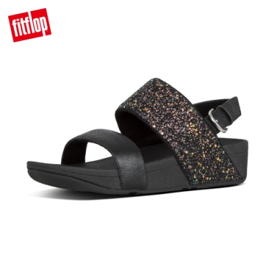 FitFlop ROSA GLITTER BACK STRAP SANDALS 黑色
