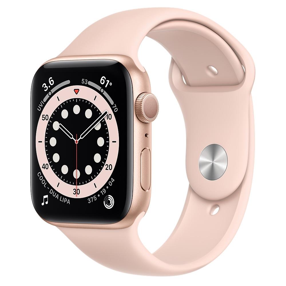 Apple Watch Series 6 (GPS) 44mm 金色鋁金屬錶殼+粉色錶帶(M00E3TA/A)