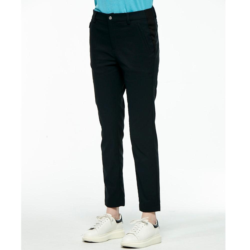 【WILDLAND荒野】女時尚彈性透氣九分褲黑色