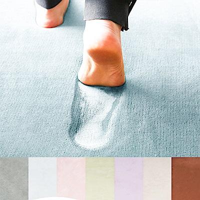 樂嫚妮 慢回彈乳膠底 加大加厚地毯 150X200cm