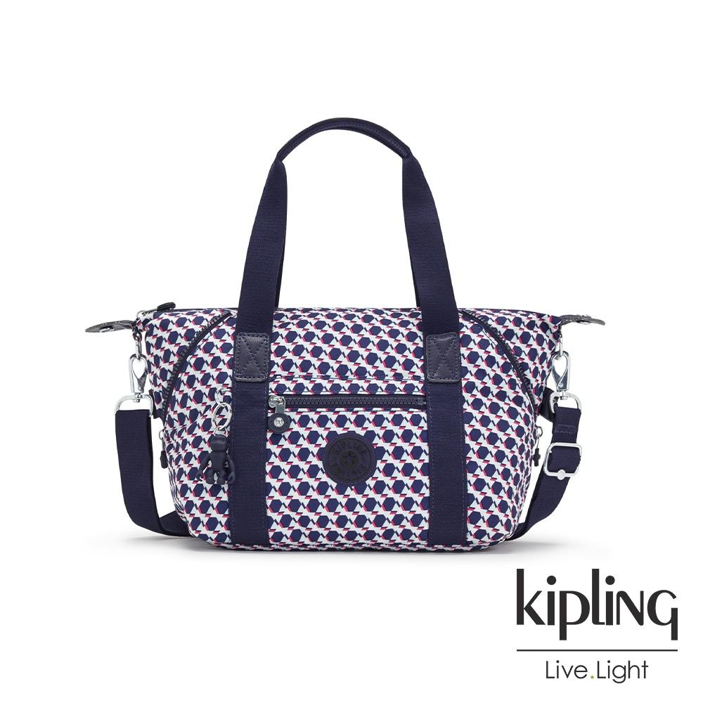Kipling 典雅幾何印花手提側背包-ART MINI