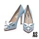 高跟鞋 AS 華麗優雅蝴蝶造型尖頭美型高跟鞋-藍 product thumbnail 1